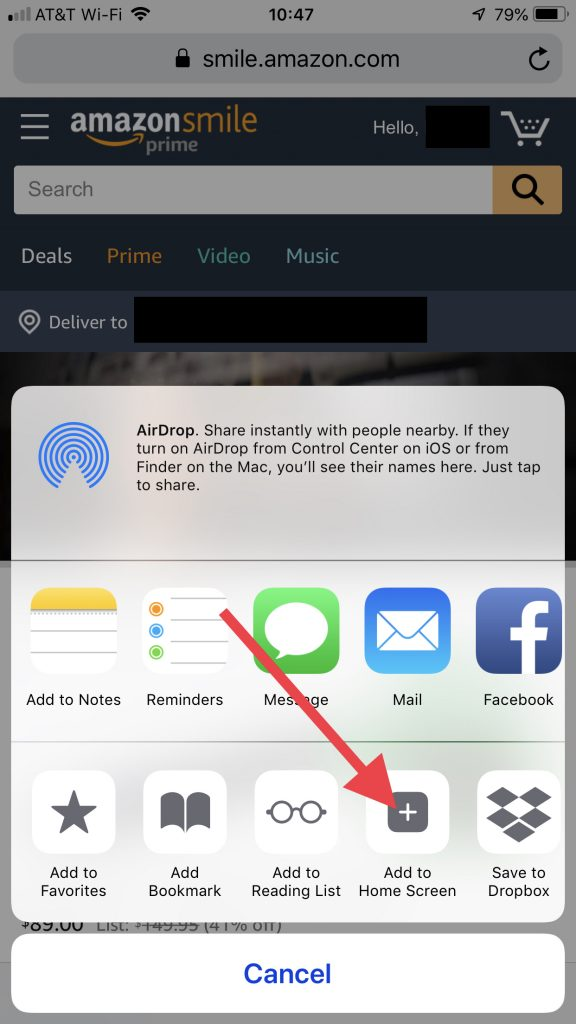 Amazon Smile App